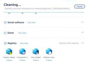 clean master limpieza archivos en proceso